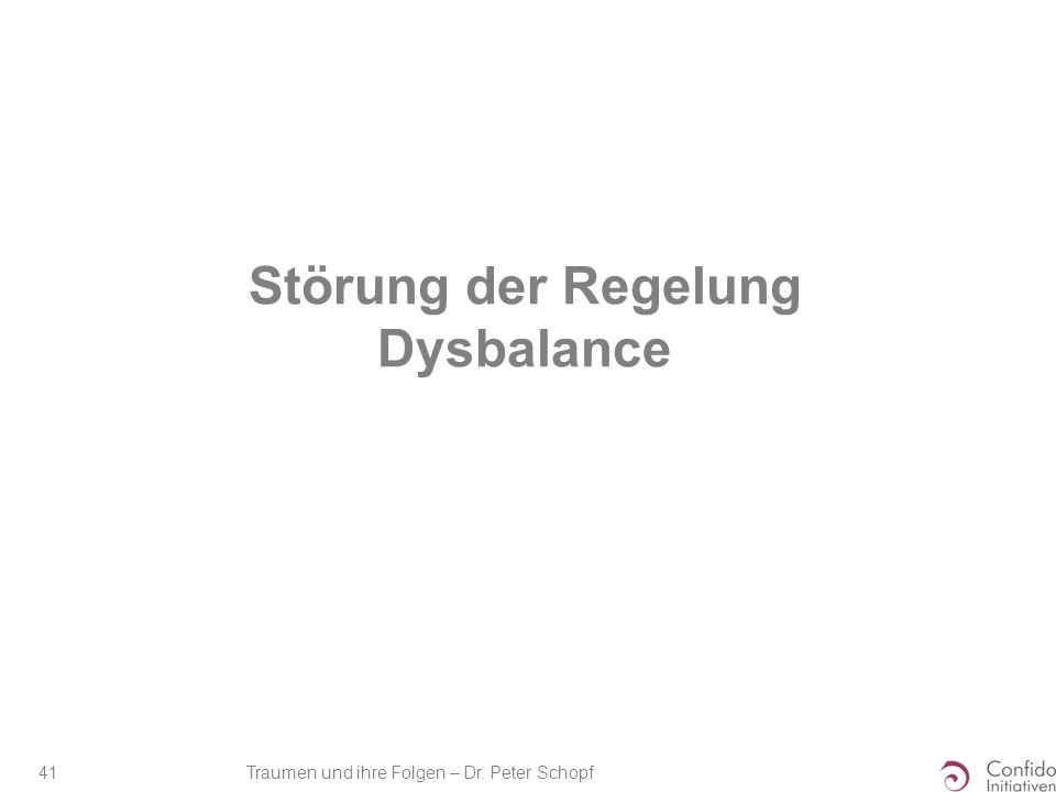 Störung der Regelung Dysbalance