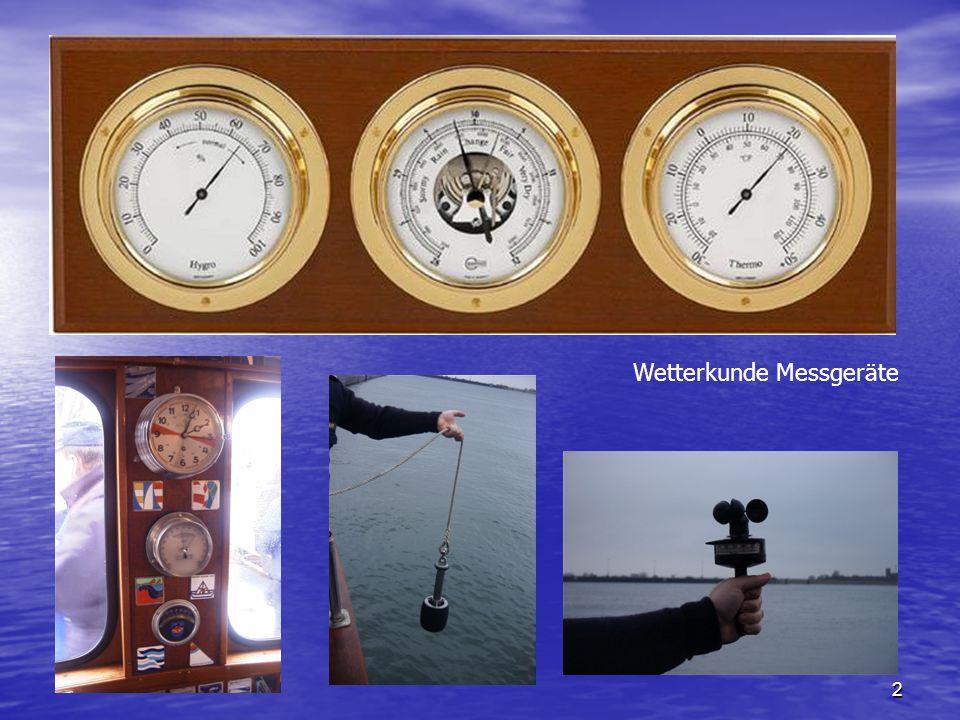 Wetterkunde Messgeräte