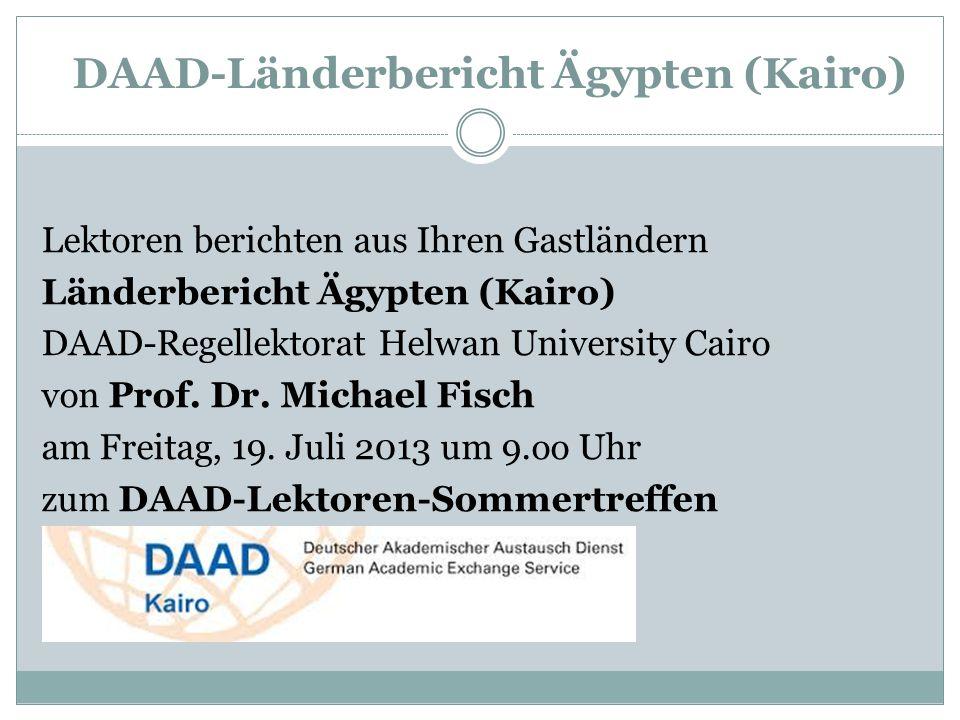 DAAD-Länderbericht Ägypten (Kairo)