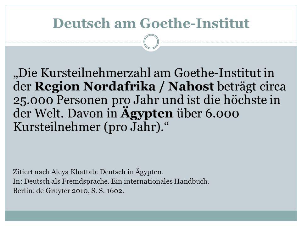 Deutsch am Goethe-Institut
