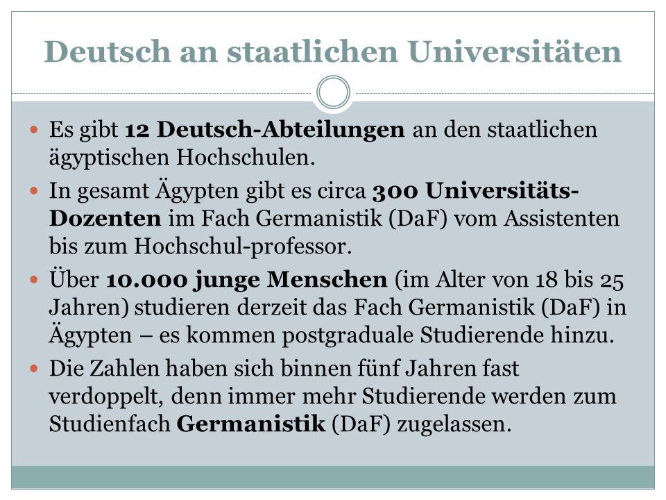 Deutsch an staatlichen Universitäten