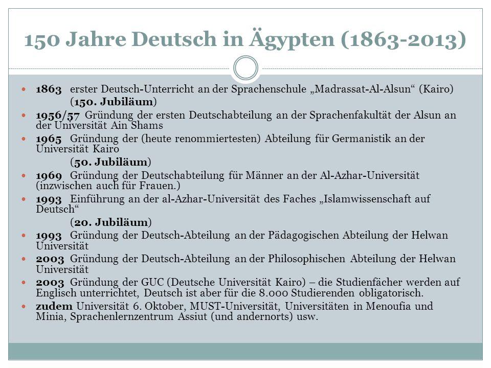 150 Jahre Deutsch in Ägypten (1863-2013)