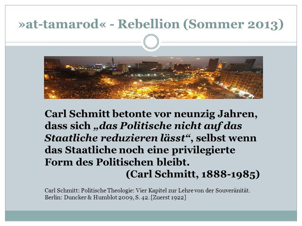 »at-tamarod« - Rebellion (Sommer 2013)