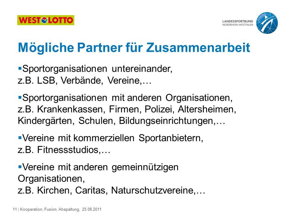 Mögliche Partner für Zusammenarbeit