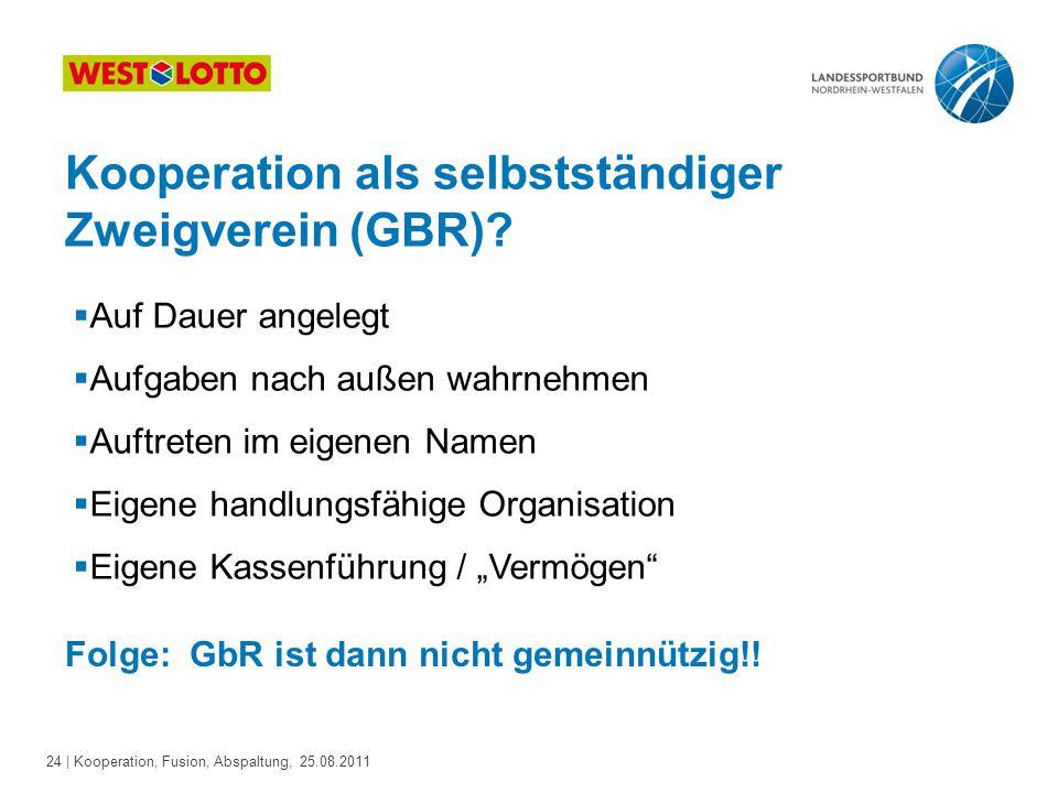 Kooperation als selbstständiger Zweigverein (GBR)