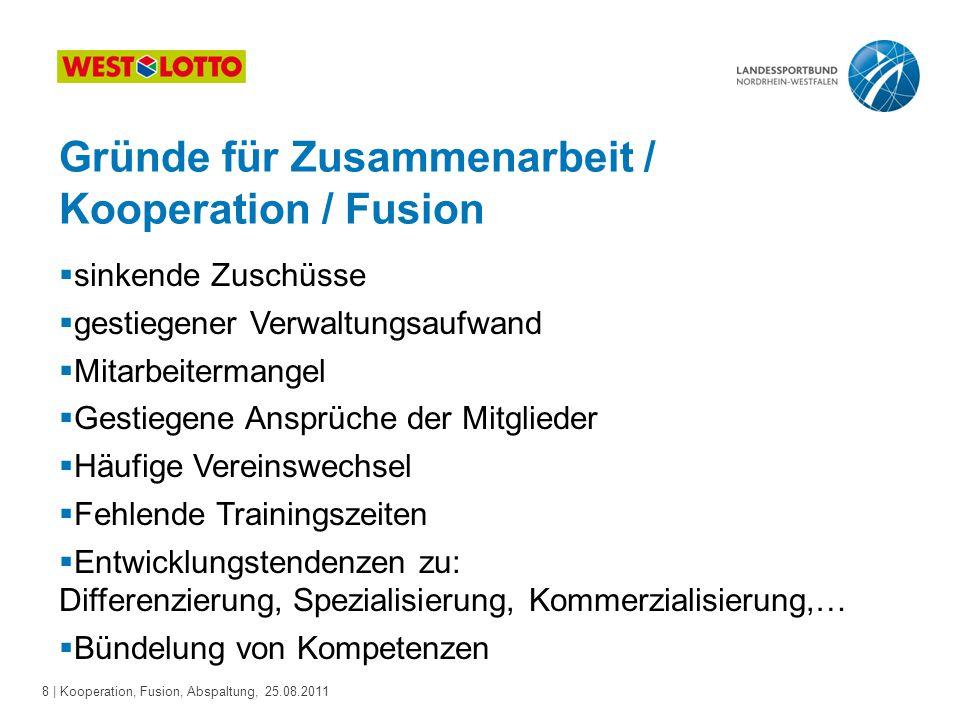 Gründe für Zusammenarbeit / Kooperation / Fusion