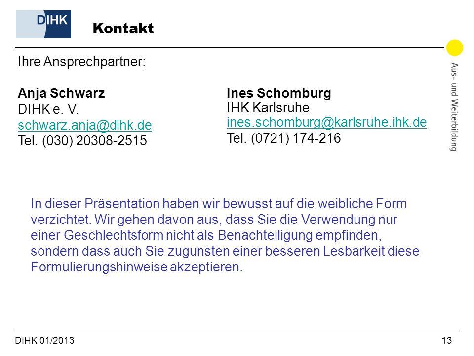 Kontakt Ihre Ansprechpartner: Anja Schwarz