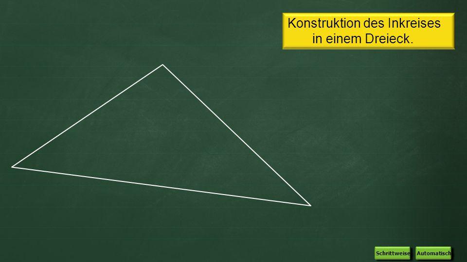 Konstruktion des Inkreises in einem Dreieck.