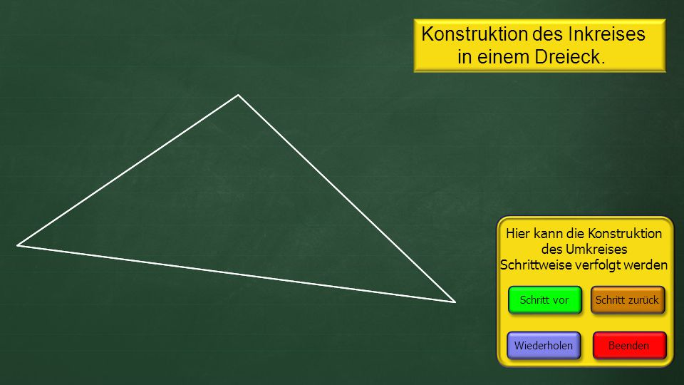 dreieck mit zirkel zeichnen