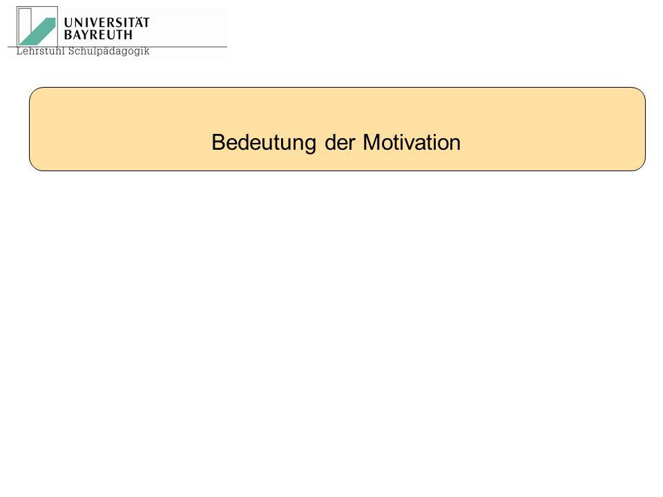 Bedeutung der Motivation