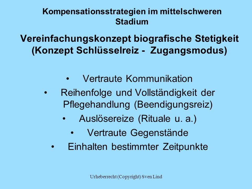 Kompensationsstrategien im mittelschweren Stadium