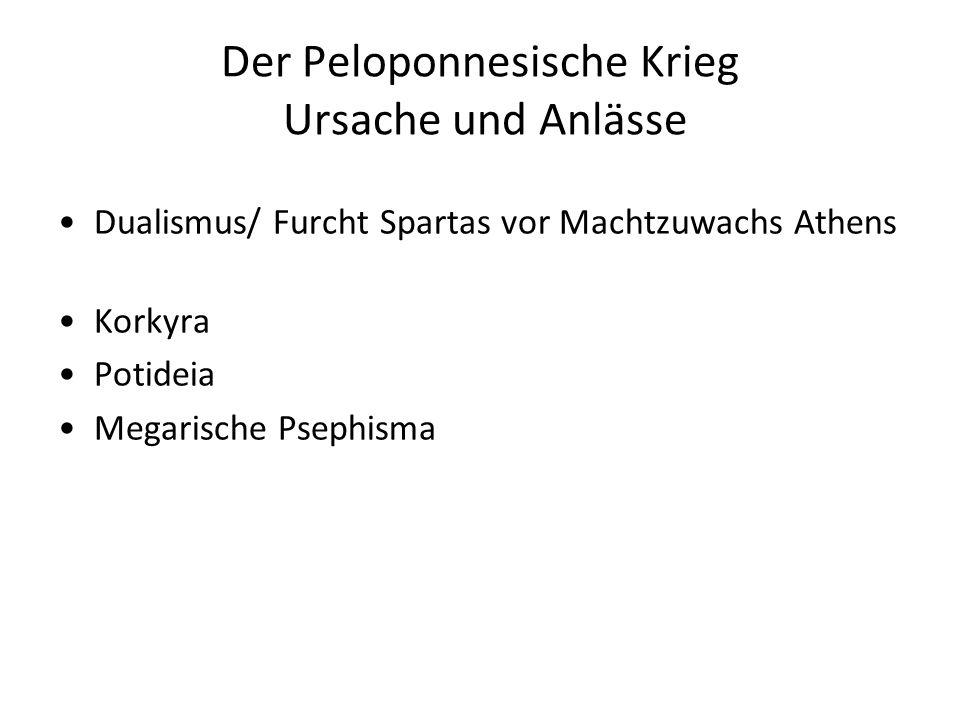 Der Peloponnesische Krieg Ursache und Anlässe
