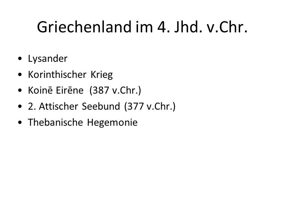 Griechenland im 4. Jhd. v.Chr.