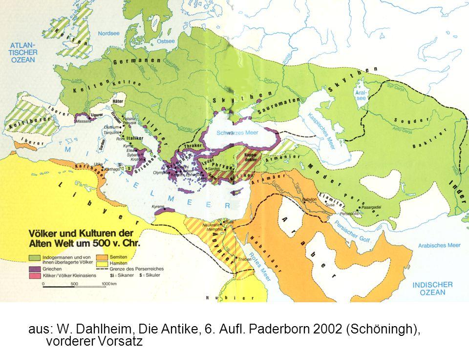 aus: W. Dahlheim, Die Antike, 6. Aufl