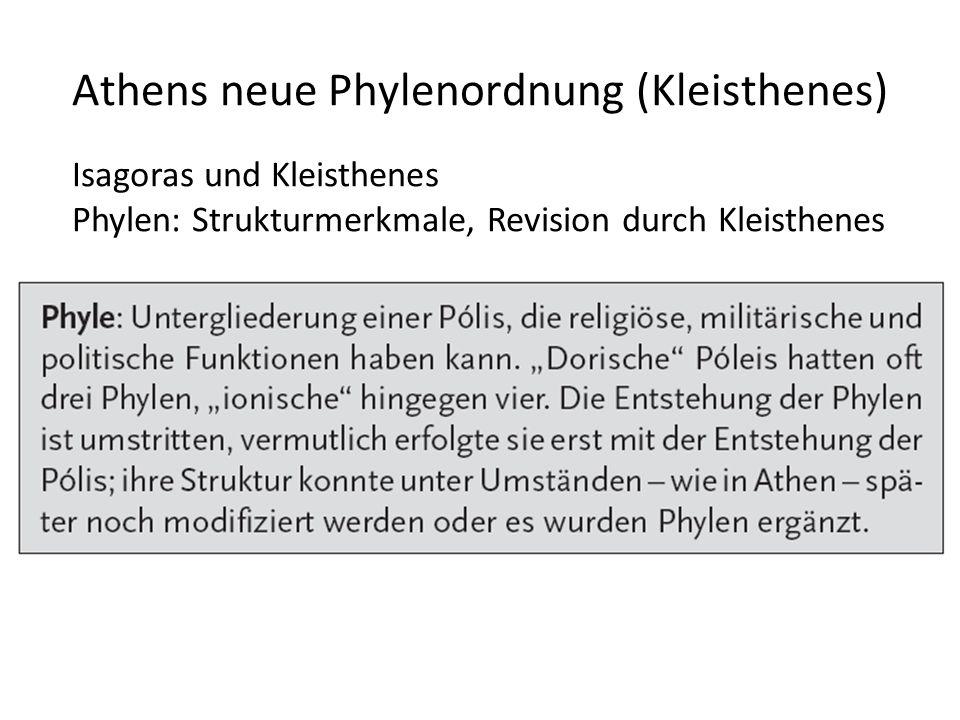 Athens neue Phylenordnung (Kleisthenes)