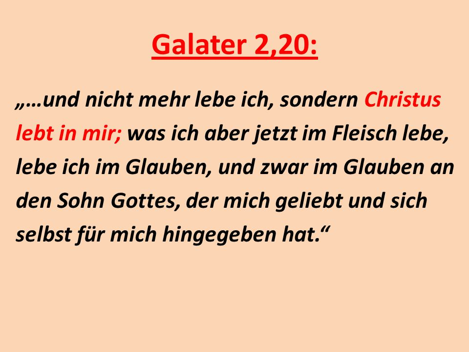 Galater 2,20: