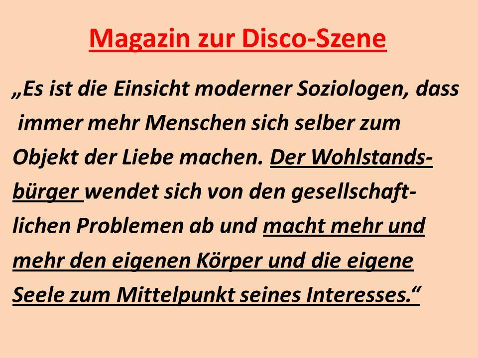 Magazin zur Disco-Szene