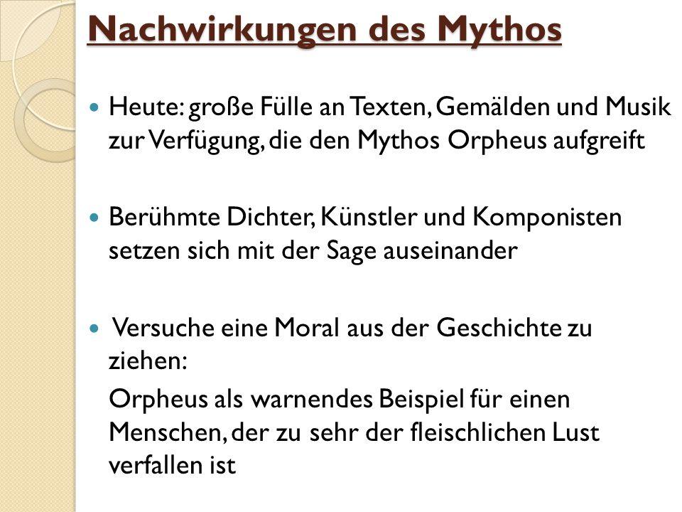 Nachwirkungen des Mythos