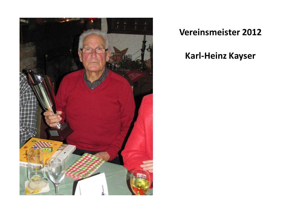 Vereinsmeister 2012 Karl-Heinz Kayser