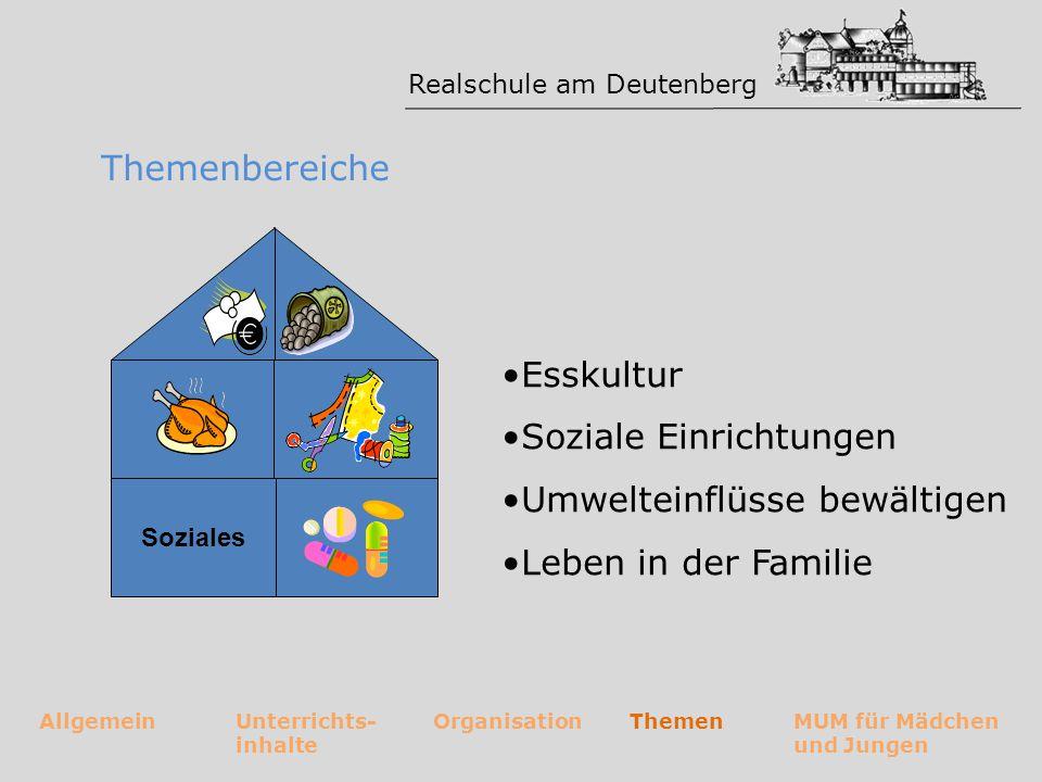 Soziale Einrichtungen Umwelteinflüsse bewältigen Leben in der Familie