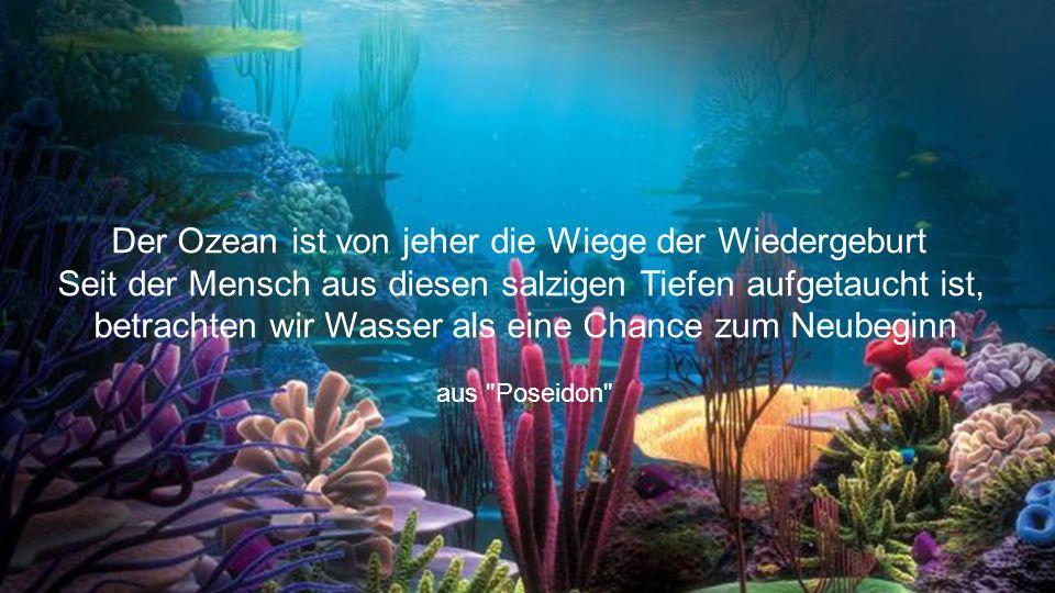 Der Ozean ist von jeher die Wiege der Wiedergeburt Seit der Mensch aus diesen salzigen Tiefen aufgetaucht ist, betrachten wir Wasser als eine Chance zum Neubeginn aus Poseidon