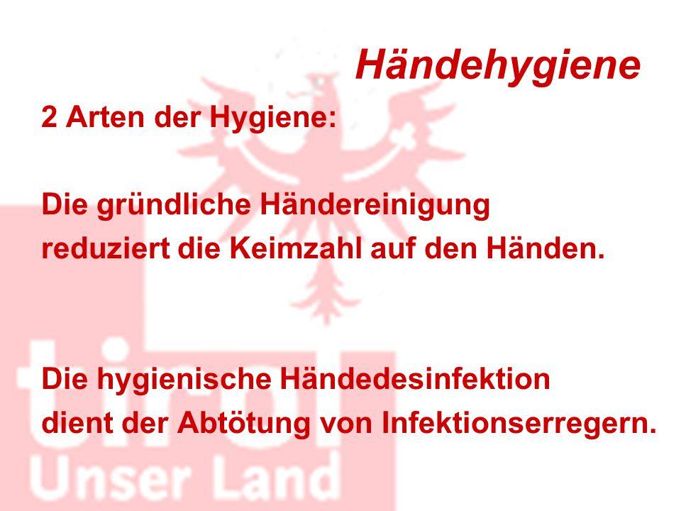 Händehygiene 2 Arten der Hygiene: Die gründliche Händereinigung