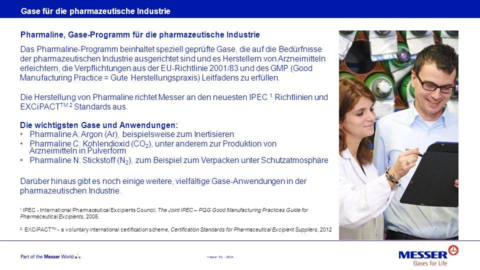 Gase für die pharmazeutische Industrie