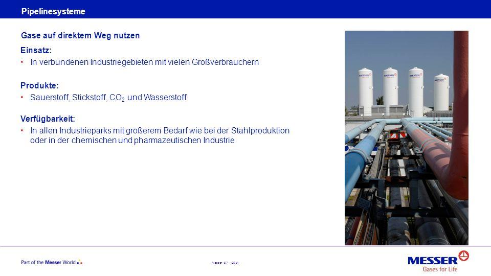 Pipelinesysteme Gase auf direktem Weg nutzen. Einsatz: In verbundenen Industriegebieten mit vielen Großverbrauchern.