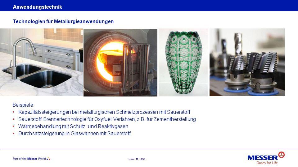 Anwendungstechnik Technologien für Metallurgieanwendungen. Beispiele: Kapazitätssteigerungen bei metallurgischen Schmelzprozessen mit Sauerstoff.