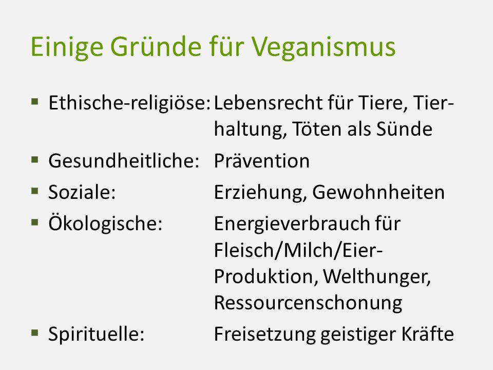Einige Gründe für Veganismus