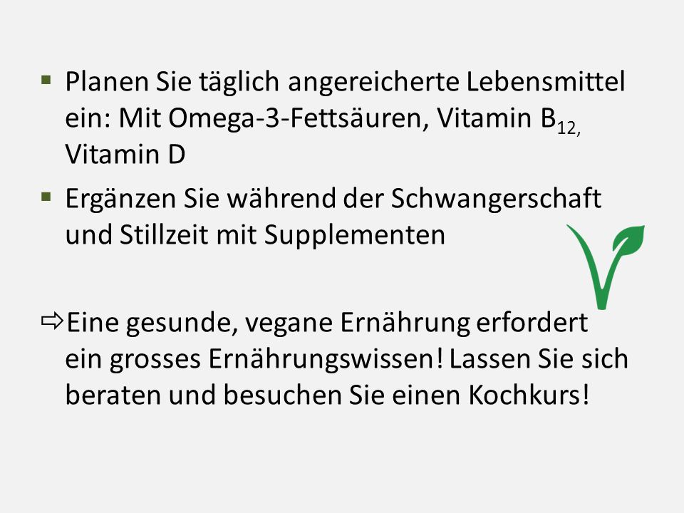 Planen Sie täglich angereicherte Lebensmittel ein: Mit Omega-3-Fettsäuren, Vitamin B12, Vitamin D