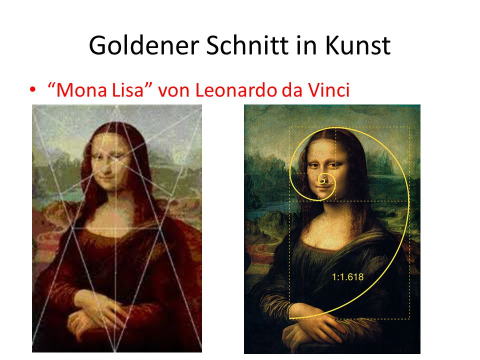Goldener Schnitt in Kunst
