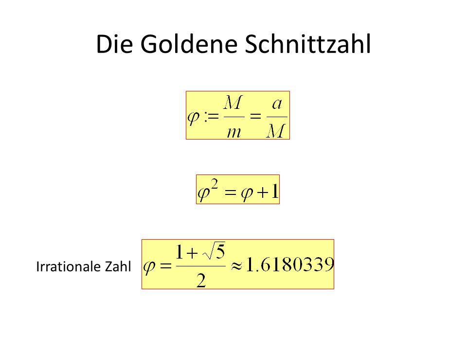 Die Goldene Schnittzahl