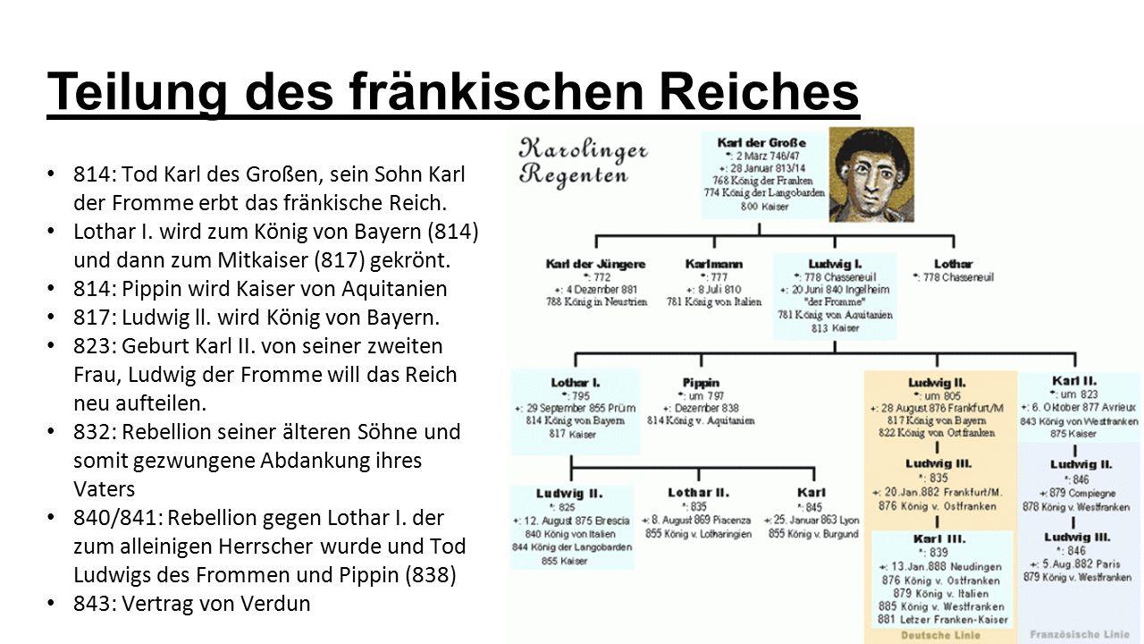 Teilung des fränkischen Reiches