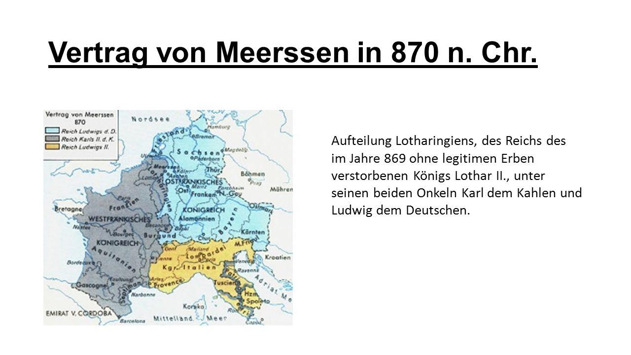 Vertrag von Meerssen in 870 n. Chr.