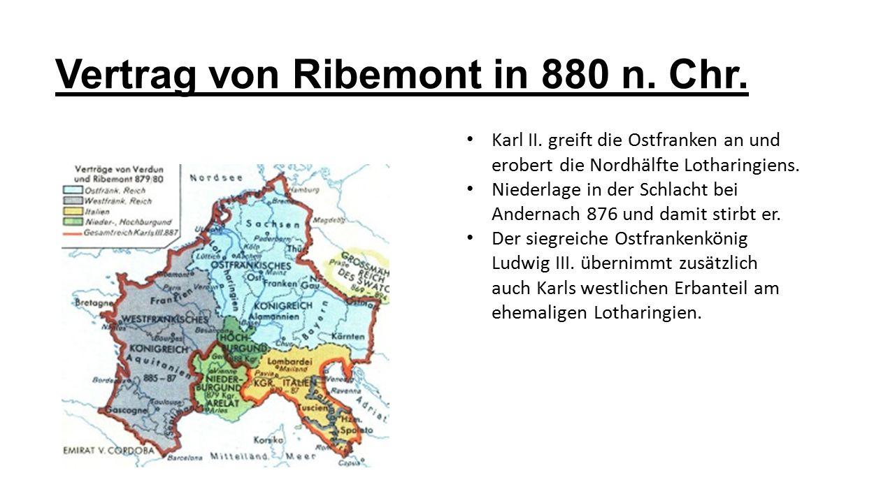Vertrag von Ribemont in 880 n. Chr.