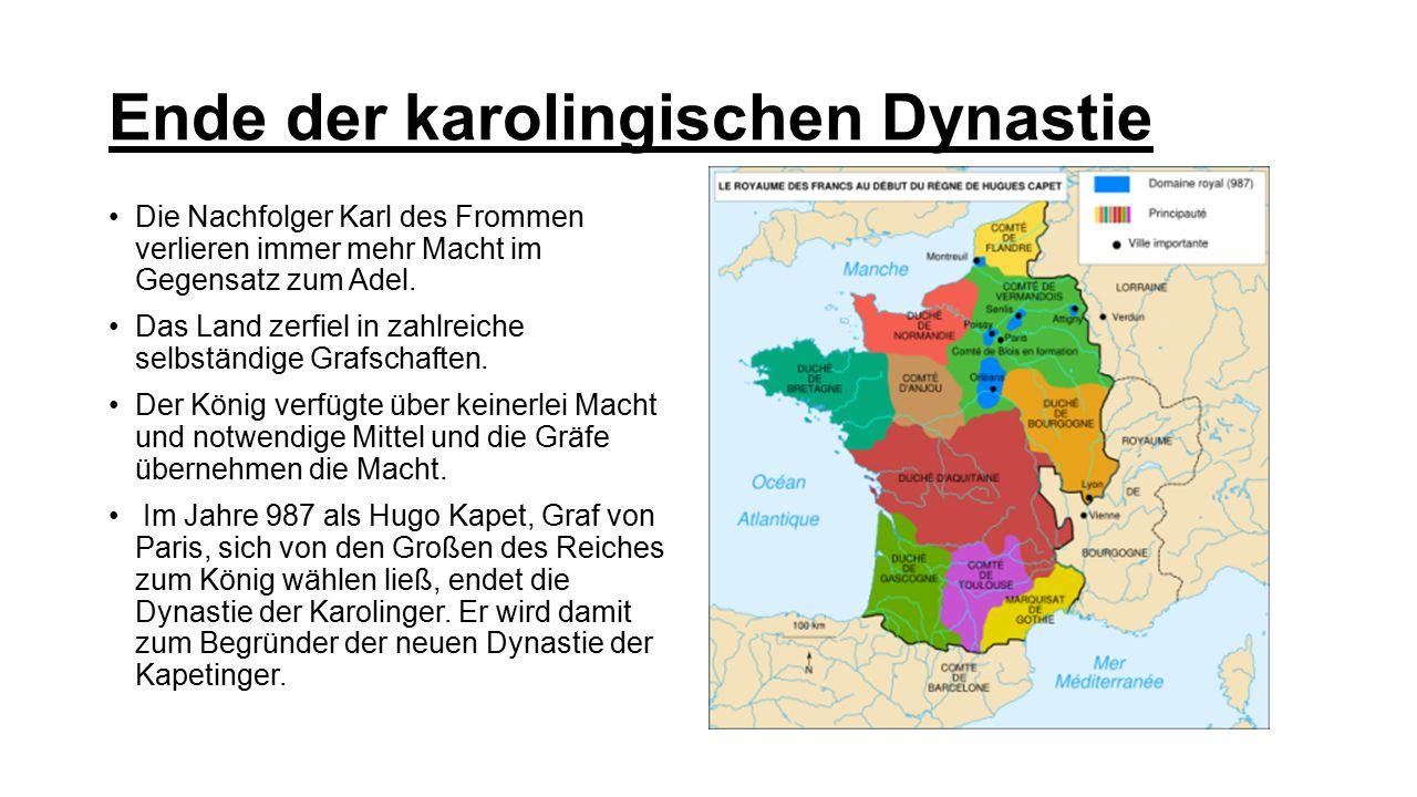 Ende der karolingischen Dynastie