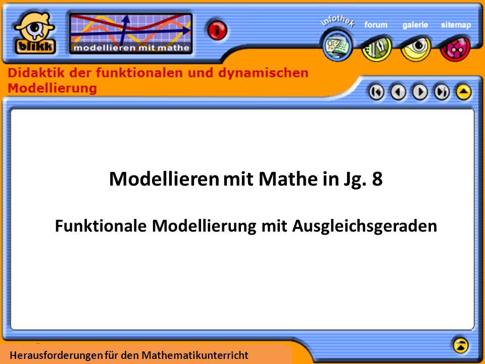 Modellieren mit Mathe in Jg. 8