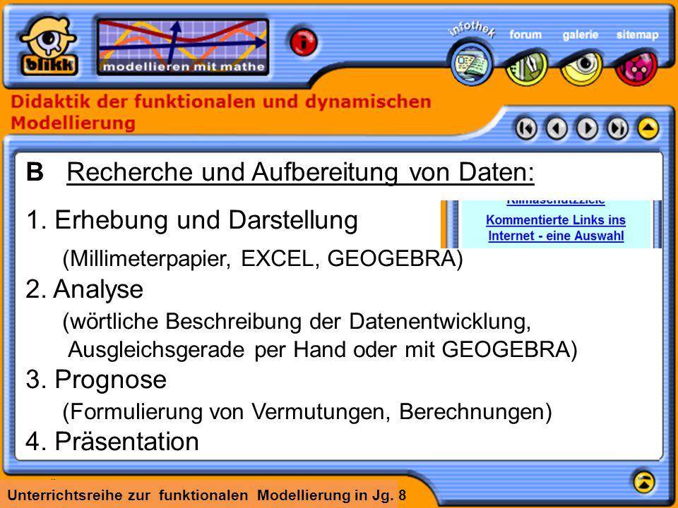 B Recherche und Aufbereitung von Daten: 1. Erhebung und Darstellung