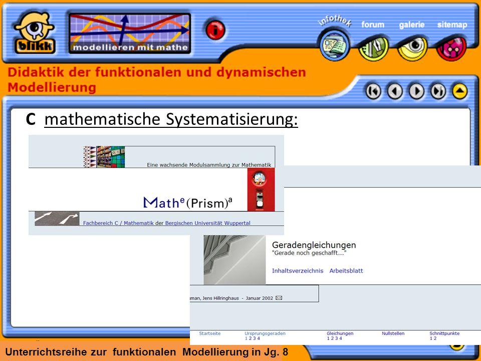 C mathematische Systematisierung: