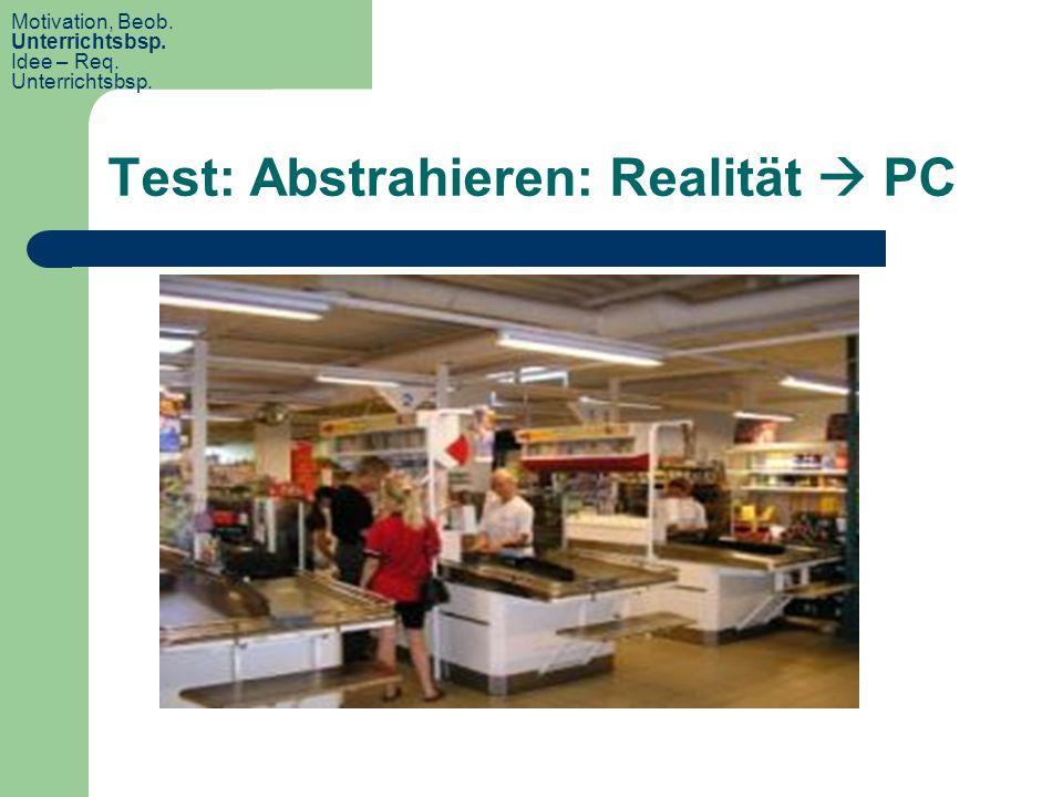 Test: Abstrahieren: Realität  PC