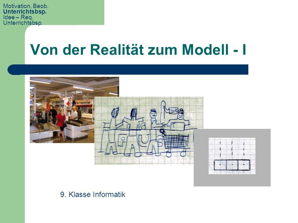 Von der Realität zum Modell - I