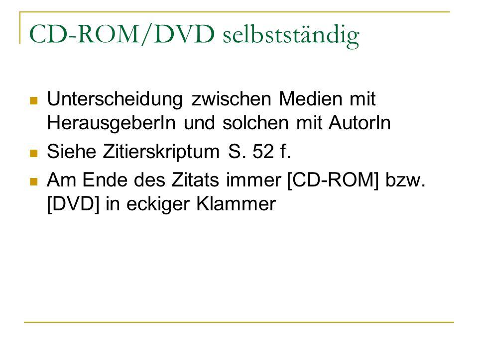 CD-ROM/DVD selbstständig