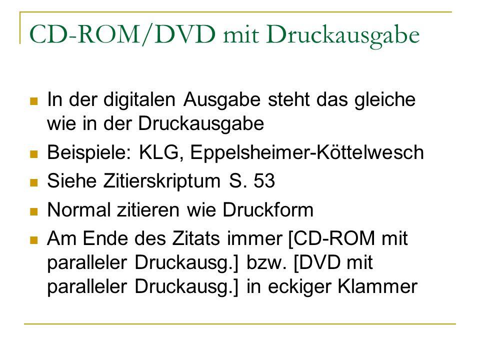 CD-ROM/DVD mit Druckausgabe