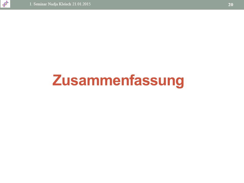 Zusammenfassung 1. Seminar Nadja Kleisch 21.01.2015
