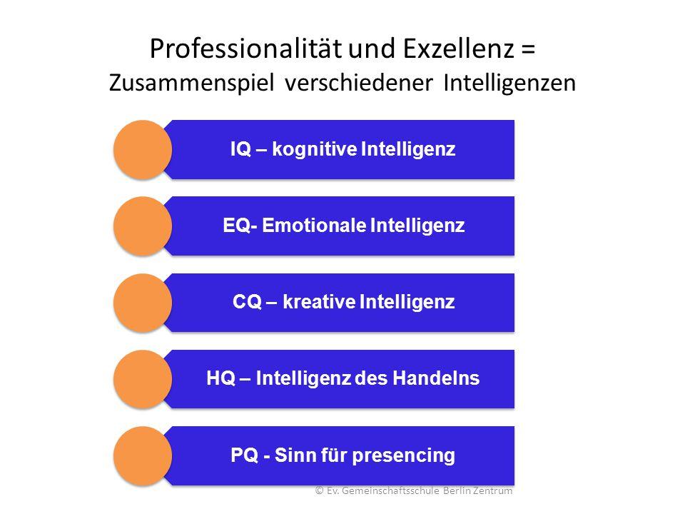 Professionalität und Exzellenz = Zusammenspiel verschiedener Intelligenzen