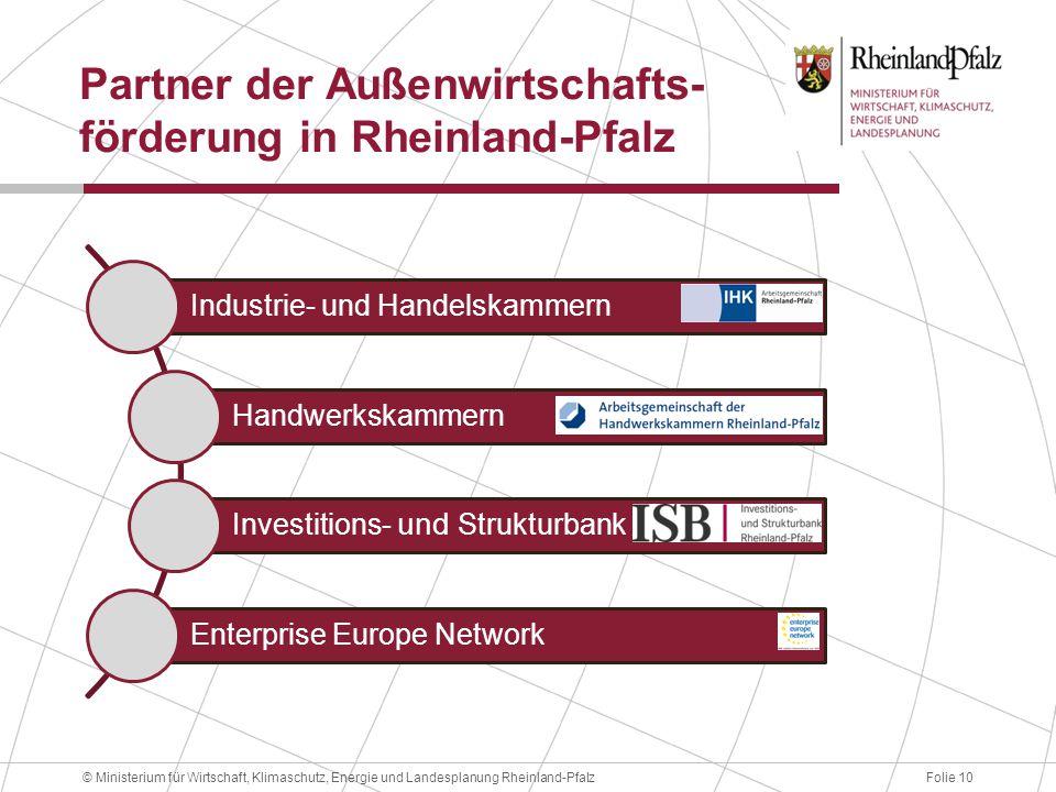 Partner der Außenwirtschafts-förderung in Rheinland-Pfalz