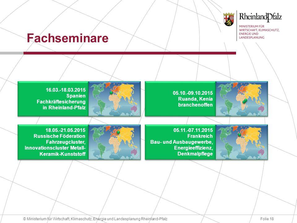 Fachseminare 16.03.-18.03.2015 Spanien Fachkräftesicherung