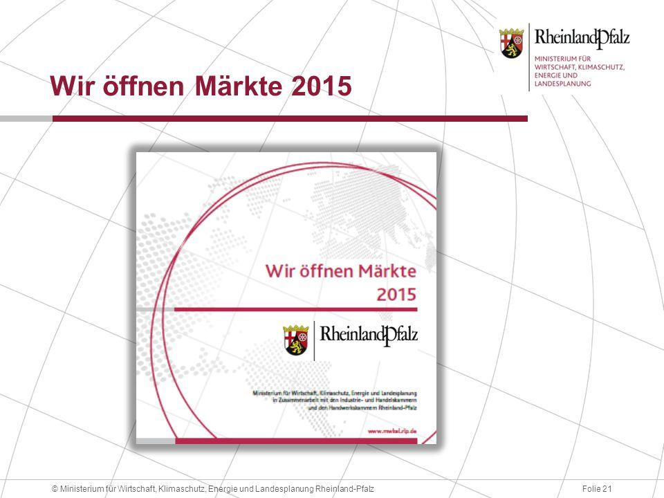 Wir öffnen Märkte 2015