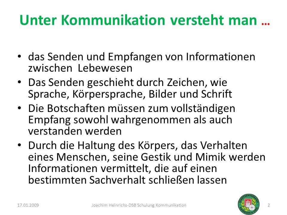 Unter Kommunikation versteht man …